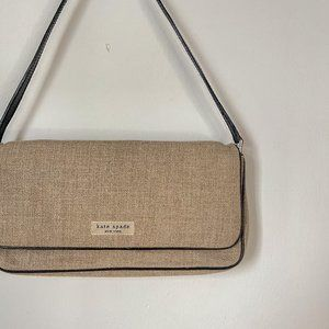 Kate Spade Tan Burlap Leather Mini Shoulder Bag